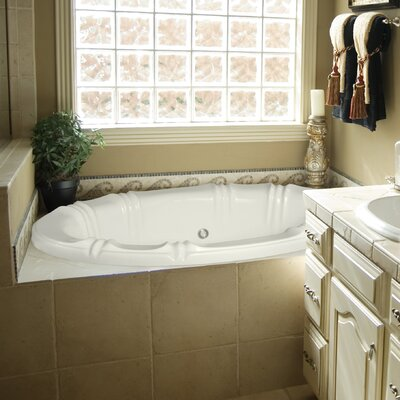 "Designer Alyssa 66"" x 42"" Soaking Bathtub Finish: Almond"