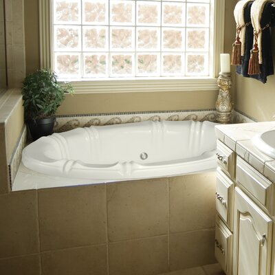 "Designer Alyssa 78"" x 48"" Soaking Bathtub Finish: Almond"