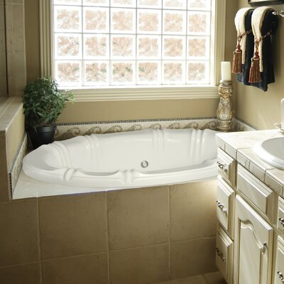 "Designer Alyssa 78"" x 48"" Whirlpool Bathtub Finish: Almond"