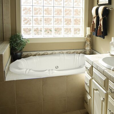 "Designer Alyssa 78"" x 48"" Soaking Bathtubs Finish: Almond"