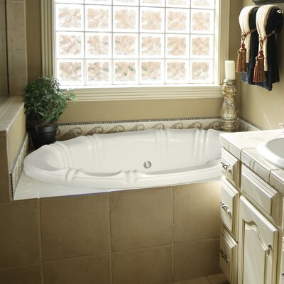 "Designer Alyssa 66"" x 42"" Soaking Bathtub with Combo System Finish: Almond"