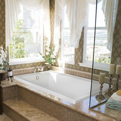 "Designer Emma 66"" x 42"" Soaking Bathtub Finish: Almond"