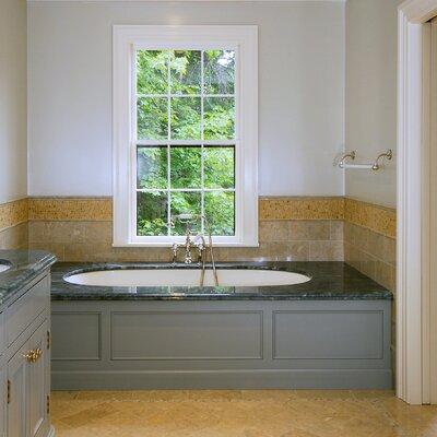 "Designer Malia 60"" x 32"" Whirlpool Bathtub Finish: Almond"