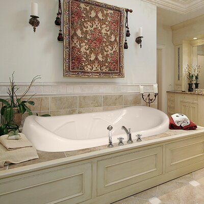 "Designer Natalie 78"" x 44"" Salon Spa Soaking Bathtub Finish: Almond"