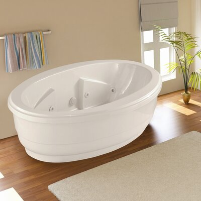 "Designer Nina 72"" x 44"" Whirlpool Bathtub Finish: Almond"