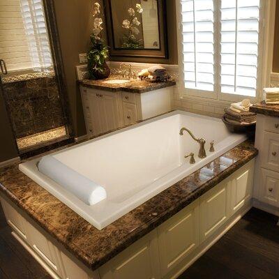 "Designer Regal 70"" x 43"" Soaking Bathtub Finish: Almond"
