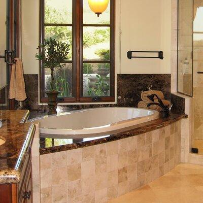 """Designer Savannah 66"""" x 44"""" Whirlpool Bathtub Finish: Bone"""