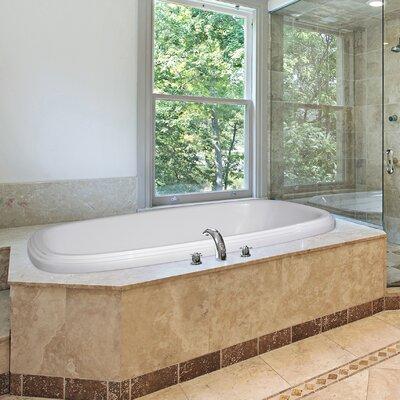 """Designer Sylvia 60"""" x 38"""" Soaking Bathtub Finish: Biscuit"""