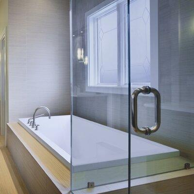 "Designer Versailles 72"" x 42"" Whirlpool Bathtub Finish: Almond"