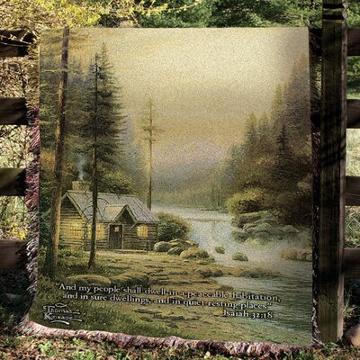 Manual Woodworkers & Weavers Evening in Forest Tapestry Cotton Throw