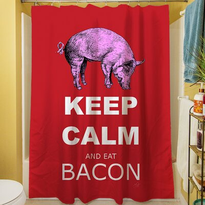 Keep Calm and Eat Bacon Shower Curtain