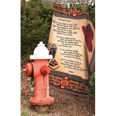 Manual Woodworkers & Weavers All Fired up Tapestry Cotton Throw