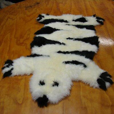 Bowron Sheepskin Designer Bear Ivory Area Rug