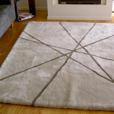 Bowron Sheepskin Shortwool Design Hand-Woven Beige Area Rug