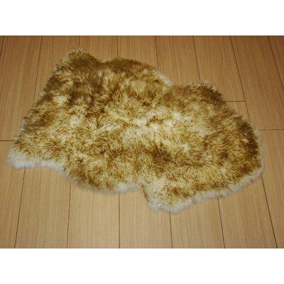 Bowron Sheepskin Hand-Woven Dusk Indoor Area Rug
