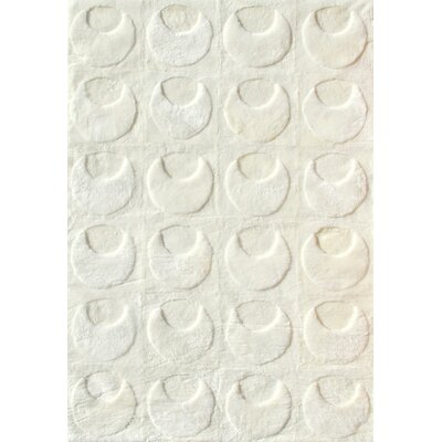 Bowron Sheepskin Shortwool Design Hand-Woven White Area Rug