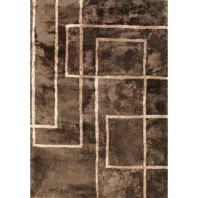 Bowron Sheepskin Shortwool Design Hand-Woven Brown Area Rug