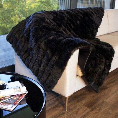 Bowron Sheepskin Black Area Rug