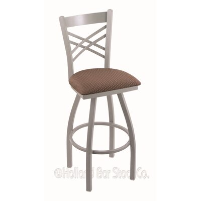 "Catalina 30"" Swivel Bar Stool Upholstery: Axis Willow, Finish: Anodized Nickel"
