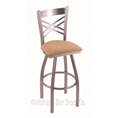 "Catalina 30"" Swivel Bar Stool Upholstery: Axis Summer, Finish: Stainless"
