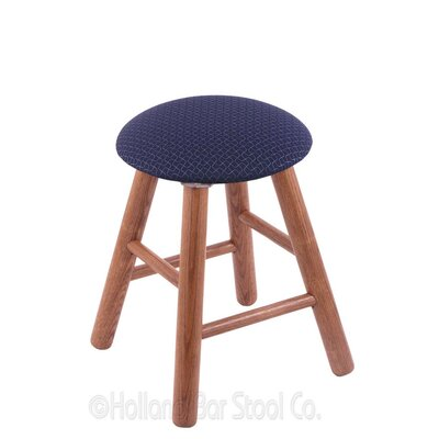 Vanity Stool Color: Axis Denim, Finish: Medium Oak