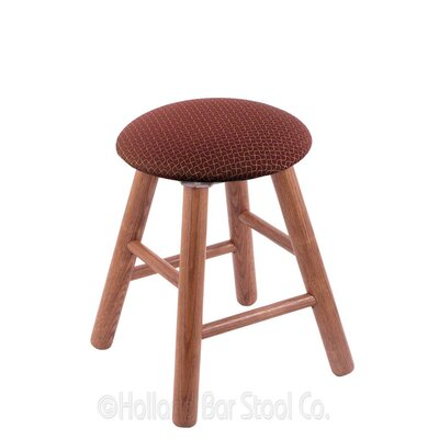 Vanity Stool Color: Axis Paprika, Finish: Medium Oak