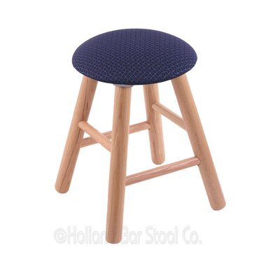 Vanity Stool Color: Axis Denim, Finish: Natural Oak