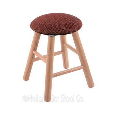 Vanity Stool Color: Axis Paprika, Finish: Natural Oak