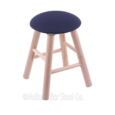 Vanity Stool Color: Axis Denim, Finish: Natural Maple