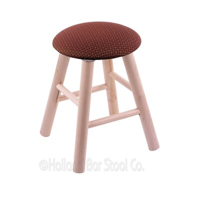 Vanity Stool Color: Axis Paprika, Finish: Natural Maple