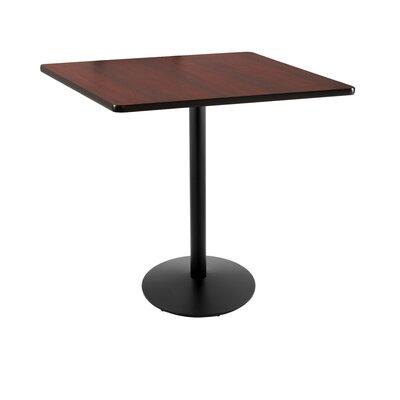 """42"""" Pub Table Tabletop Size: 36"""" x 36"""", Color: Black"""
