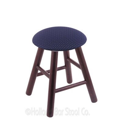 Vanity Stool Color: Axis Denim, Finish: Dark Cherry Oak