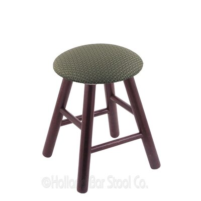 Vanity Stool Finish: Dark Cherry Oak, Color: Axis Grove