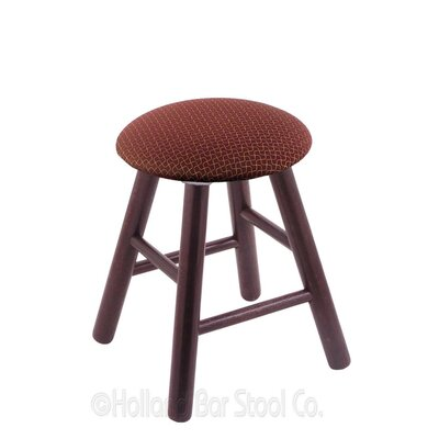 Vanity Stool Finish: Dark Cherry Oak, Color: Axis Paprika