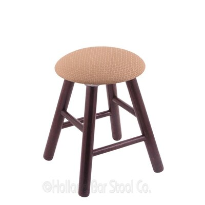 Vanity Stool Finish: Dark Cherry Oak, Color: Axis Summer