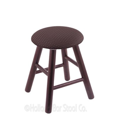 Vanity Stool Finish: Dark Cherry Oak, Color: Axis Truffle