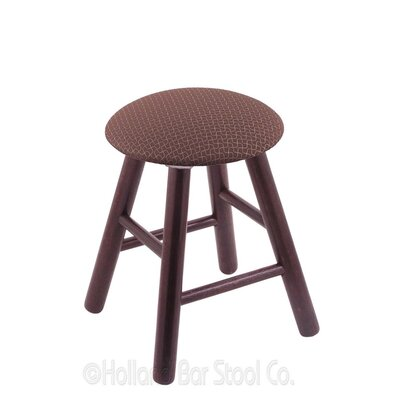 Vanity Stool Finish: Dark Cherry Oak, Color: Axis Willow