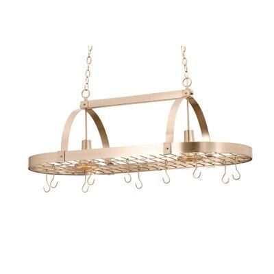 Kalco Hanging Pot Rack with 2 Light