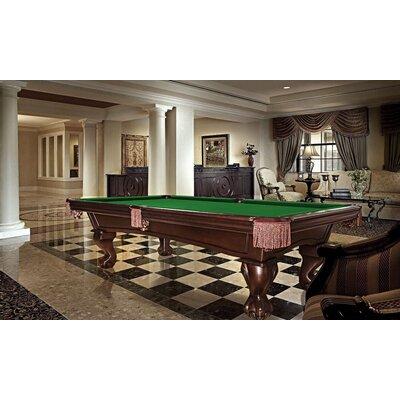 Princeton 8' Pool Table Stain: Espresso, Felt Color: Burgundy