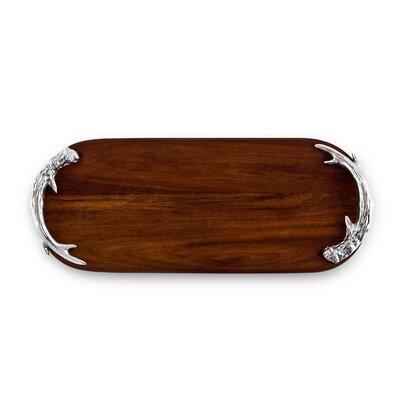 Western Antler Wood Long Oval Cutting Board