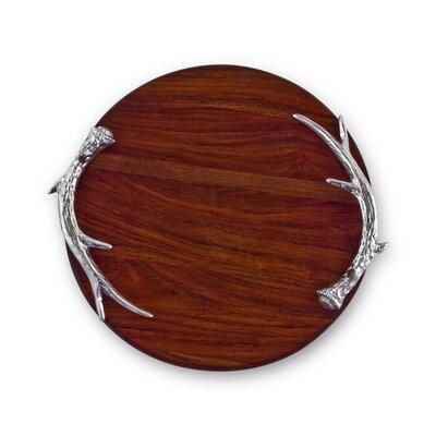 Western Antler Wood Round Cutting Board