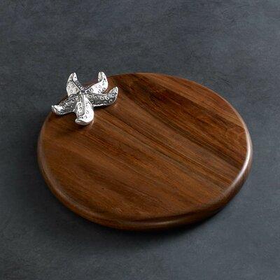"Ocean Starfish Wood 10"" Round Cutting Board (Set of 2)"