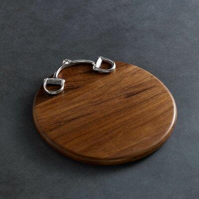 """Western Equestrian Wood 12"""" Round Cutting Board (Set of 2)"""