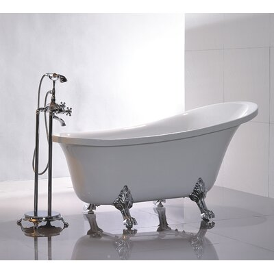 "King 69"" X 30"" Soaking Bathtub  Wayfair. Coffee Table. Modern Front Door Hardware. White Washed Floors. Covered Deck Ideas"
