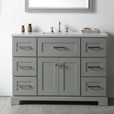 "48"" Single Bathroom Vanity Set Base Finish: Cool Gray"