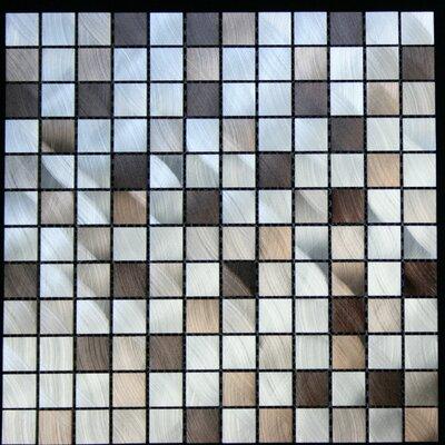 """Legion Furniture 1"""" x 1"""" Aluminum Metal Tile in Multi-Color"""