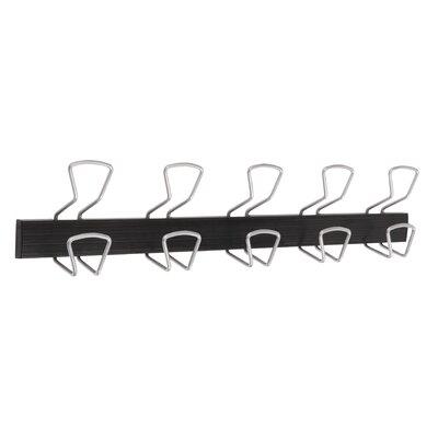 Modern 5 Double Hook Wall Coat Rack