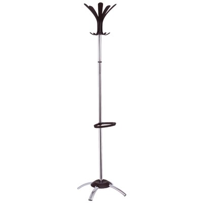 Cleo Contemporary Coat Rack Color: Chrome
