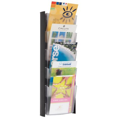 5 Pocket Wall A5 Document Display Finish: Black