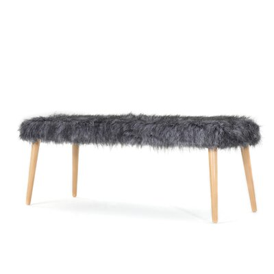 Nieves Upholstered Bench Upholstery: Gray